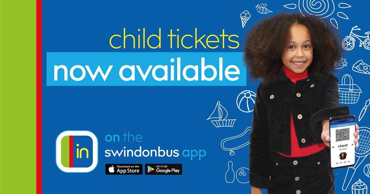 Swindon Bus app child tickets