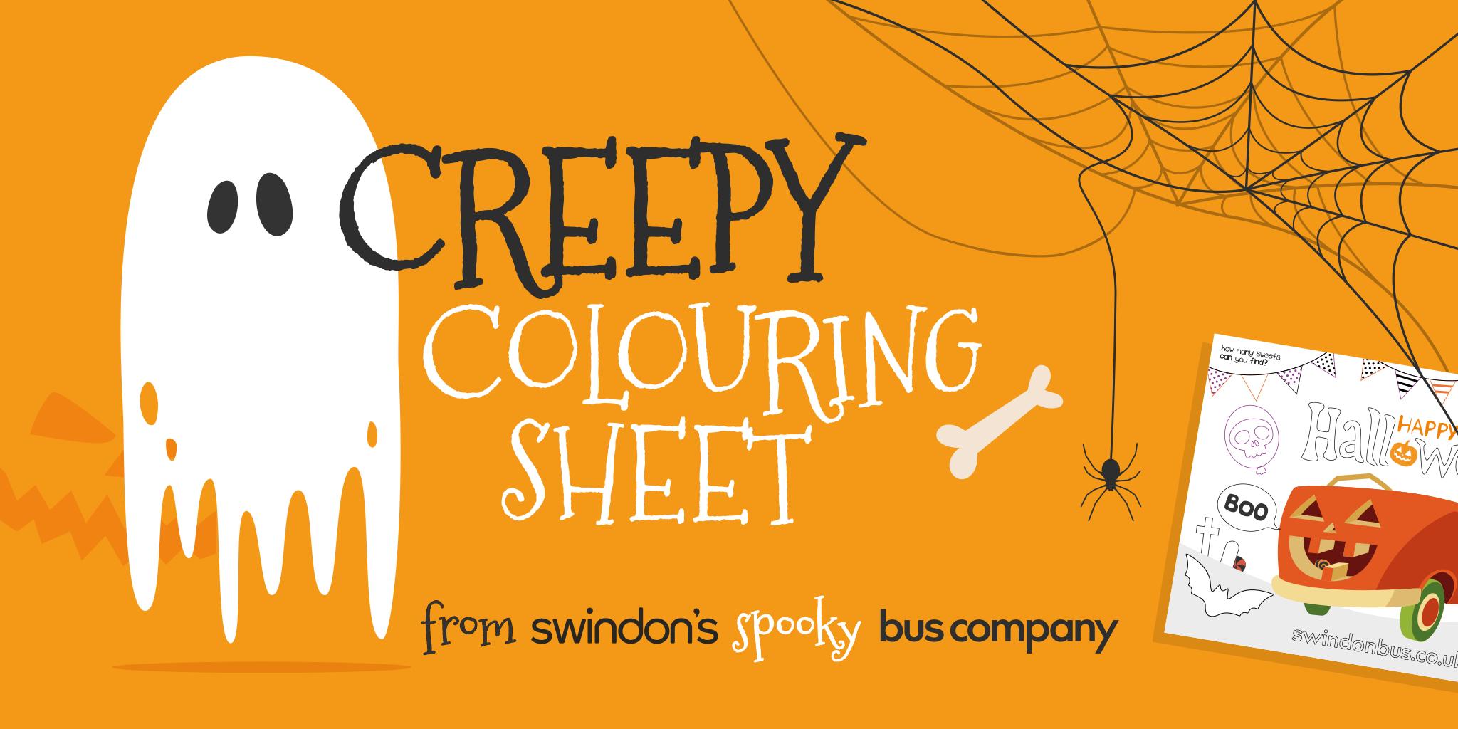 Swindon Bus Halloween colouring in sheet