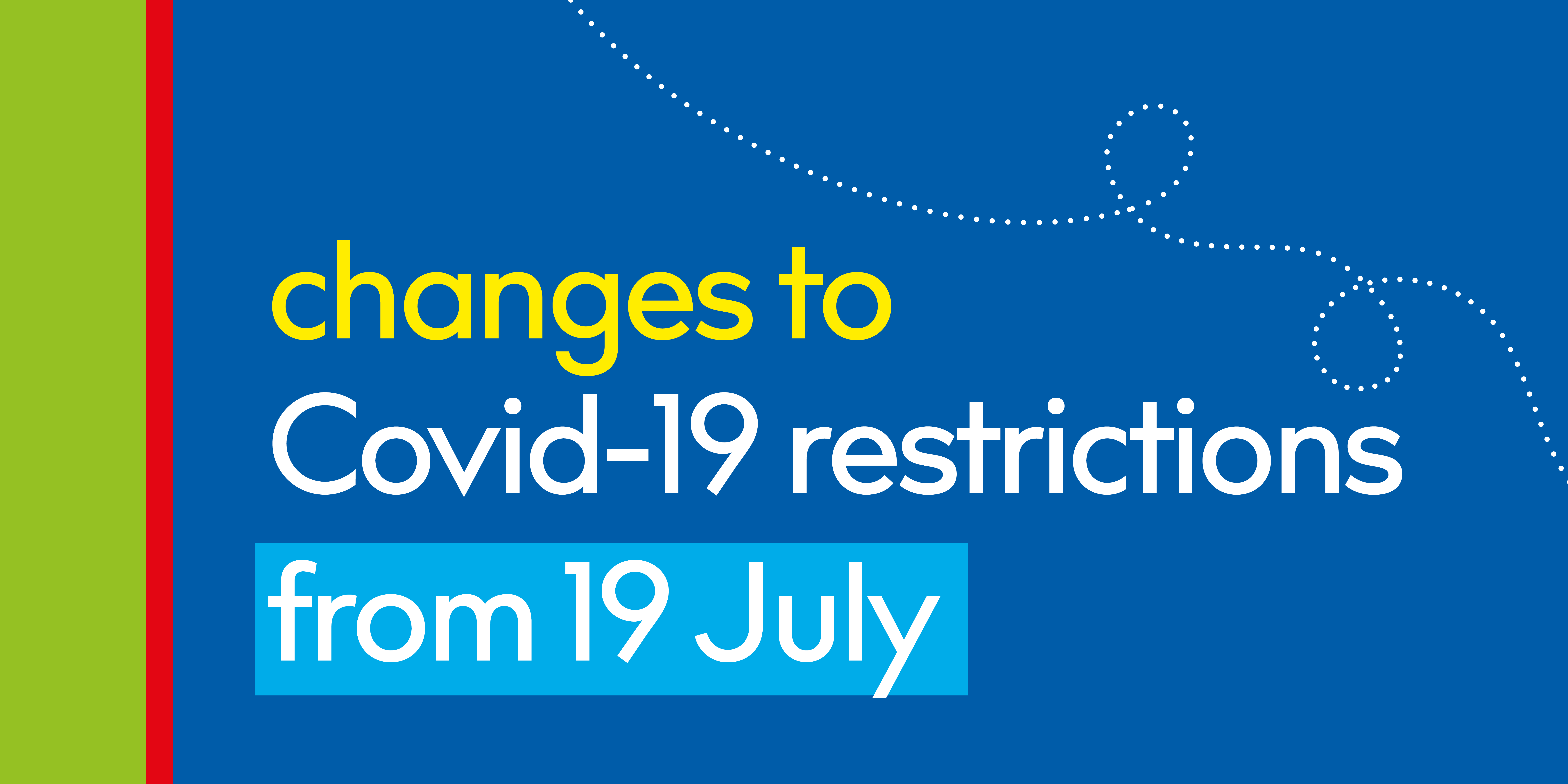 Changes to covid-19 restrictions in text