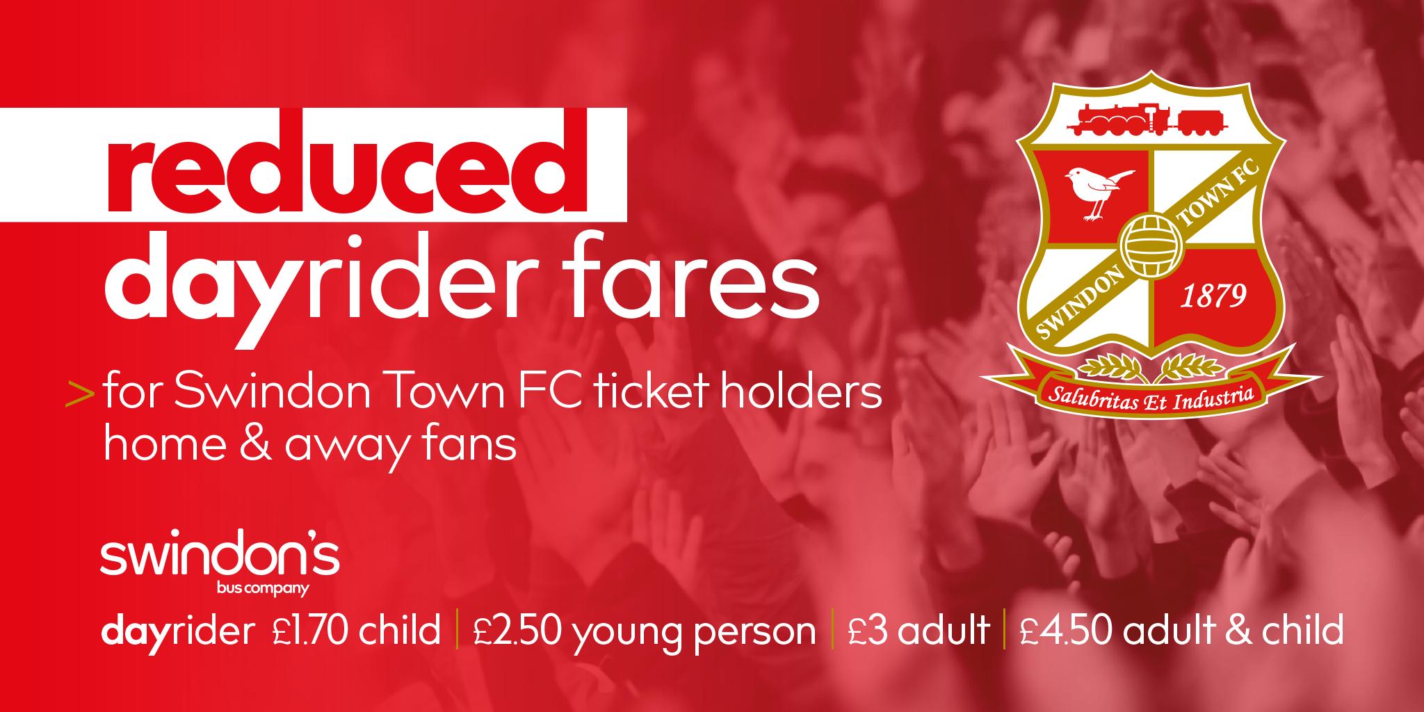 Swindon's Bus Company matchday dayrider deal